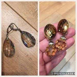 Jewelry - Crystal cut beaded earring bundle